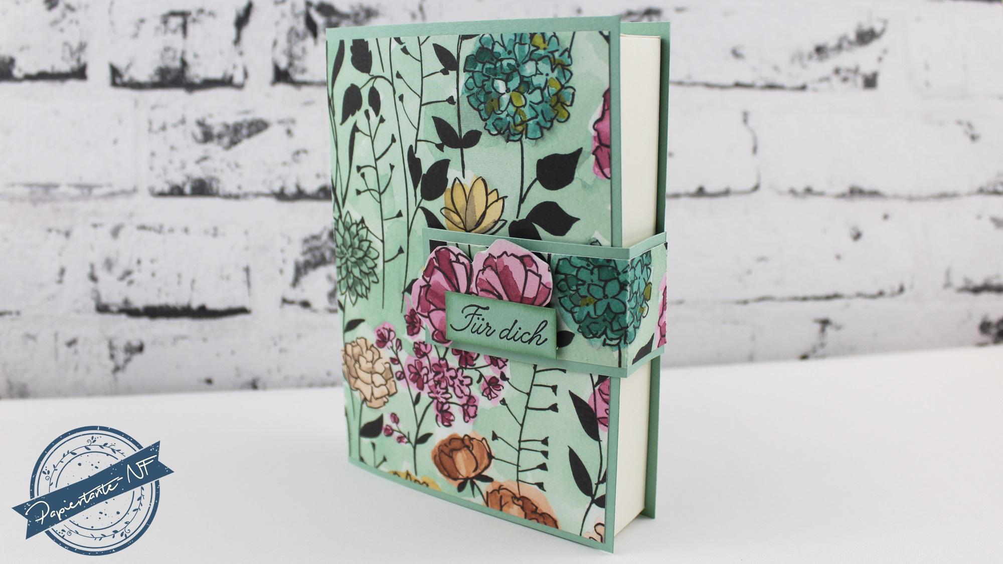 Kartenbox in Buchform