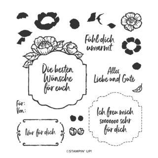 Florale Etiketten